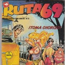 Cómics: RUTA69 RUTA 69 Nº 55 ZINCO 1988 66 PÁGINAS. CÓMICS ADULTOS. (BUEN ESTADO) . Lote 84092156