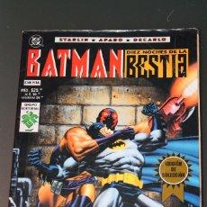 Cómics: BATMAN LAS DIEZ NOCHES DE LA BESTIA VID. Lote 84382876