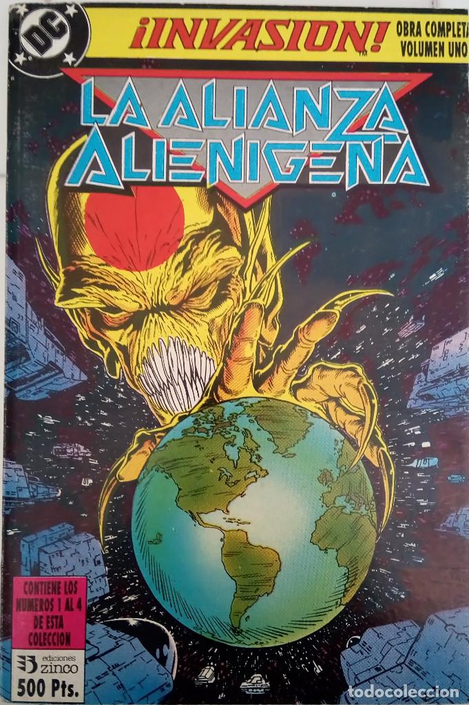 INVASION Nº 1, 2, 3, 4 DE KEITH GIFFEN, BILL MANTLO, TODD MCFARLANE, J.M. DEMATTEIS, GEORGE PEREZ.. (Tebeos y Comics - Zinco - Millenium)