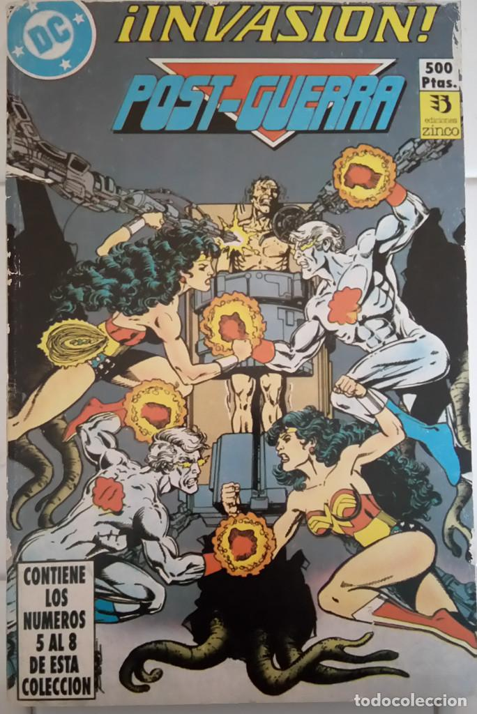 INVASION Nº 5, 6, 7, 8 DE KEITH GIFFEN, J.M. DEMATTEIS, KEVIN MAGUIRE, GEORGE PEREZ, BILL MANTLO... (Tebeos y Comics - Zinco - Millenium)