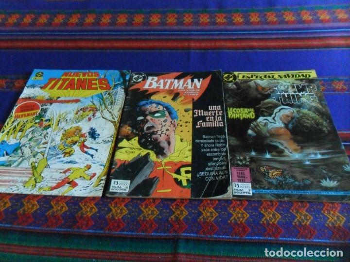 ZINCO LA COSA DEL PANTANO 1, BATMAN 3 Y NUEVOS TITANES 19. REGALO ANDRAX 10 DE TOUTAIN. (Tebeos y Comics - Zinco - Otros)