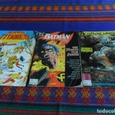 Cómics: ZINCO LA COSA DEL PANTANO 1, BATMAN 3 Y NUEVOS TITANES 19. REGALO ANDRAX 10 DE TOUTAIN.. Lote 86924540