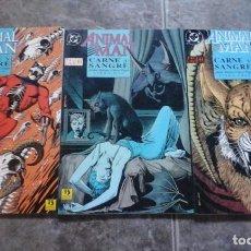 Cómics: ANIMAL MAN. CARNE Y SANGRE 1-3. Lote 87374772