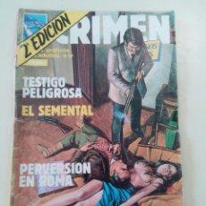 Cómics: CRIMEN-LOTE DE 9 COMICS-ED. ZINCO-1981-OPORTUNIDAD-VER…. Lote 248148125