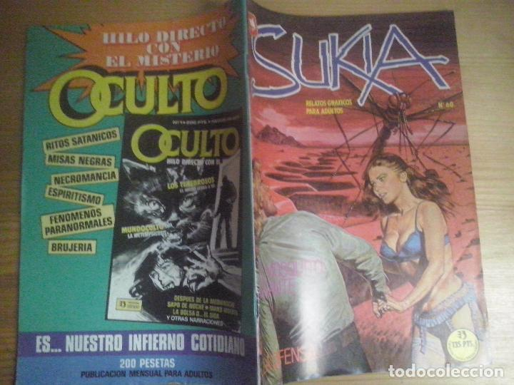 TEBEOS Y COMICS: SUKIA Nº 60. COMIC EROTICO. EDICIONES ZINCO (ABLN) (Tebeos y Comics - Zinco - Otros)