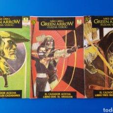Cómics: GREEN ARROW (EL CAZADOR ACECHA) - COMPLETA N° 1, 2 Y 3 (FORMATO PRESTIGIO) - DC ZINCO (FLECHA VERDE). Lote 90963673