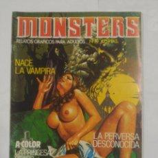 Cómics: MONSTERS Nº 19. RELATOS GRAFICOS PARA ADULTOS. NACE LA VAMPIRA. LA PERVERSA DESCONOCIDA. TDKC24. Lote 91346915