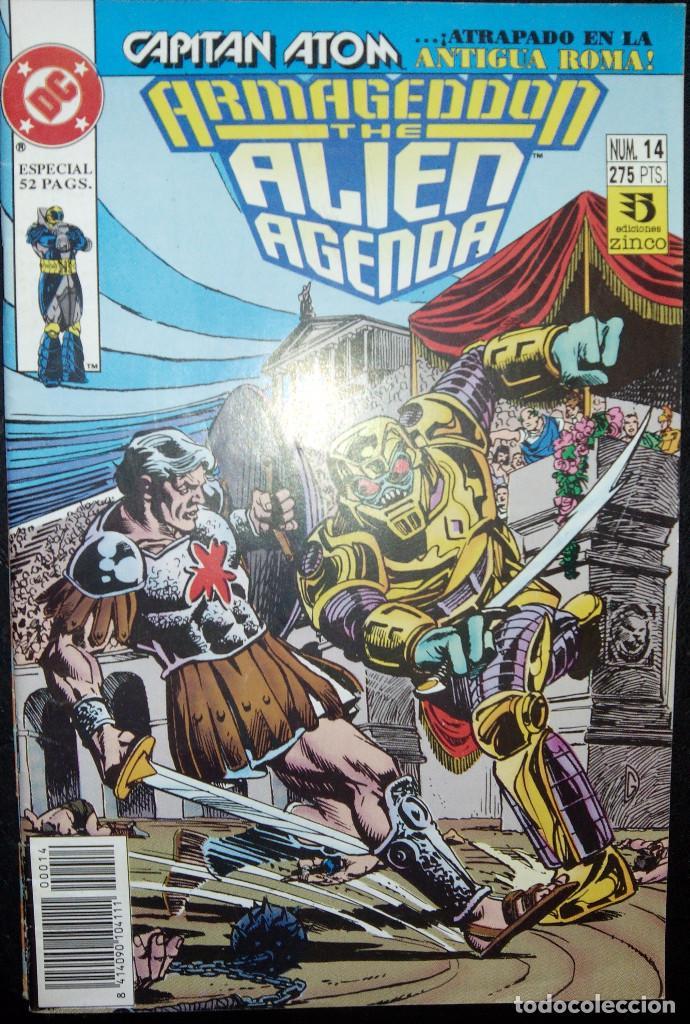 ARMAGEDDON : THE ALIEN AGENDA LOTE PACK Nº 14 Y Nº 15 EDICIONES ZINCO (Tebeos y Comics - Zinco - Otros)