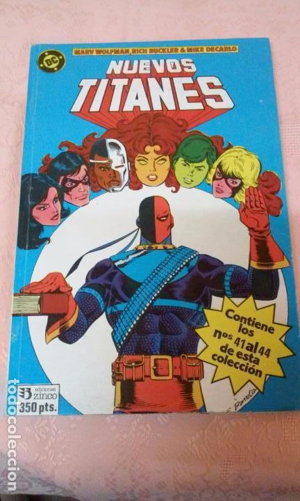 NUEVOS TITANES NUMEROS 41 AL 44 RETAPADOS (EDICIONES ZINCO)AÑOS 80 (Tebeos y Comics - Zinco - Retapados)