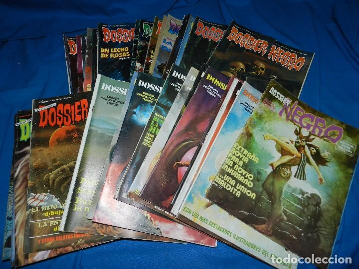 (MF) LOTE DE NUMEROS DE DOSSIER NEGRO , BARCELONA 1970 , SEÑALES DE USO NORMAL (Tebeos y Comics - Zinco - Otros)