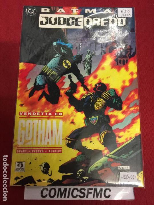 DC BATMAN JUDGE DREDD VENDETTA EN GOTHAM MUY BUEN ESTADO REF.620 (Tebeos y Comics - Zinco - Batman)
