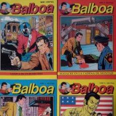 Cómics: BALBOA. LOTE DE 4 NUMEROS (1-4-5-6) – EDICIONES ZINCO (1989).. Lote 97219419
