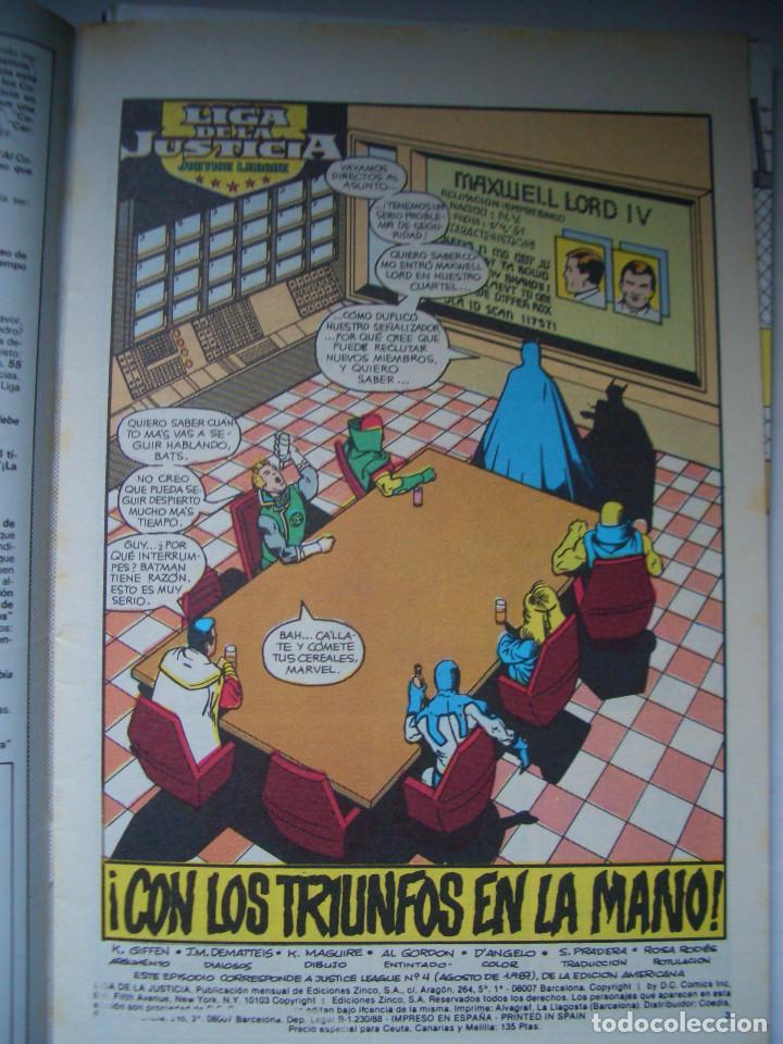 Cómics: LIGA DE LA JUSTICIA #4 (ZINCO, 1988) - Foto 2 - 97899819