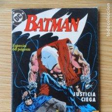 Cómics: BATMAN - JUSTICIA CIEGA - ESPECIAL 68 PÁGINAS ZINCO. Lote 98646595