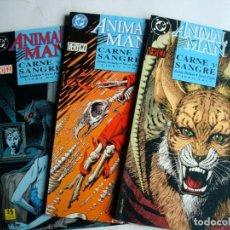 Cómics: ANIMAL MAN - CARNE Y SANGRE Nº 1 AL 3 (LIBRO UNO DOS TRES) COMPLETA (ZINCO) DC. Lote 100494491