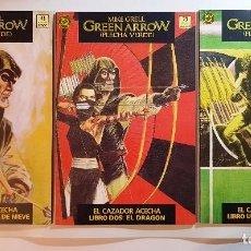 Cómics: ZINCO - GREEN ARROW - FLECHA VERDE - EL CAZADOR ACECHA Nº 1, 2, 3. Lote 100658755