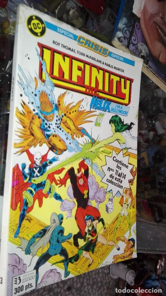 INFINITY 3 ESPECIAL CRISIS - RETAPADO CON LOS NÚMEROS 11 AL 14 DE ESTA COLECCIÓN - ZINCO (Tebeos y Comics - Zinco - Infinity Inc)