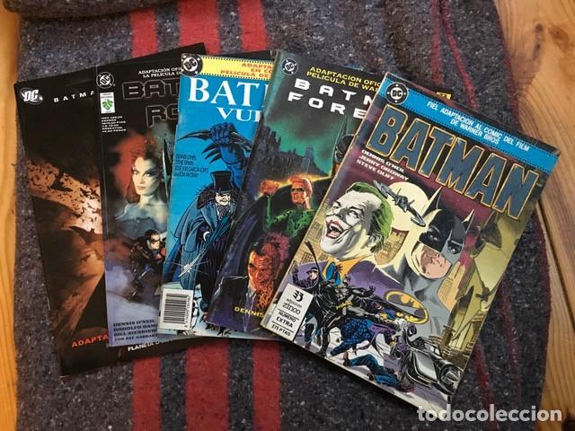 BATMAN - LOTE DE 5 COMICS - ADAPTACIÓN AL COMIC DE SUS PRIMERAS PELÍCULAS (Tebeos y Comics - Zinco - Batman)