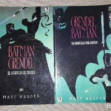 Cómics: BATMAN - GRENDEL 1 (ACERTIJO DEL DIABLO) Y 2 (MÁSCARA DEL DIABLO). MATT WAGNER. ZINCO. PRESTIGIO. Lote 103855799