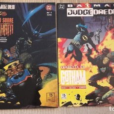 Cómics: BATMAN - JUDGE DREDD. JUICIO SOBRE GOTHAM + VENDETTA EN GOTHAM. ZINCO. PRESTIGIO. Lote 103856019