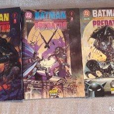 Cómics: BATMAN CONTRA PREDATOR: 1 AL 3 (COMPLETA). ZINCO. PRESTIGIO. Lote 103856111