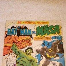 Cómics: BATMAN VS. LA MASA. DC Y MARVEL PRESENTAN. EDICIONES ZINCO 1989. 64 PÁGINAS.. Lote 103870615