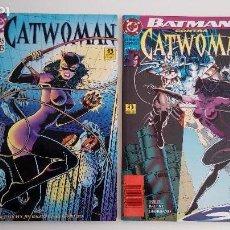 Cómics: BATMAN CONTRA CATWOMAN Y CATWOMAN LINEAS VITALES. ZINCO. 1993 Y 1994. POR DUFFY, BALENT Y GIORDANO.. Lote 104520227