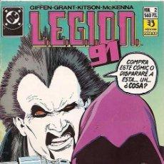 Cómics: LEGION 91 Nº 2 EDICIONES ZINCO. Lote 105454643