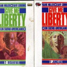 Cómics: GIVE ME LIBERTY FRANK MILLER GIBBONS 4 TOMOS COMPLETA AÑO1990 CAJA 20 C BIBLIOTECA FRONTAL ABAJO. Lote 105821815