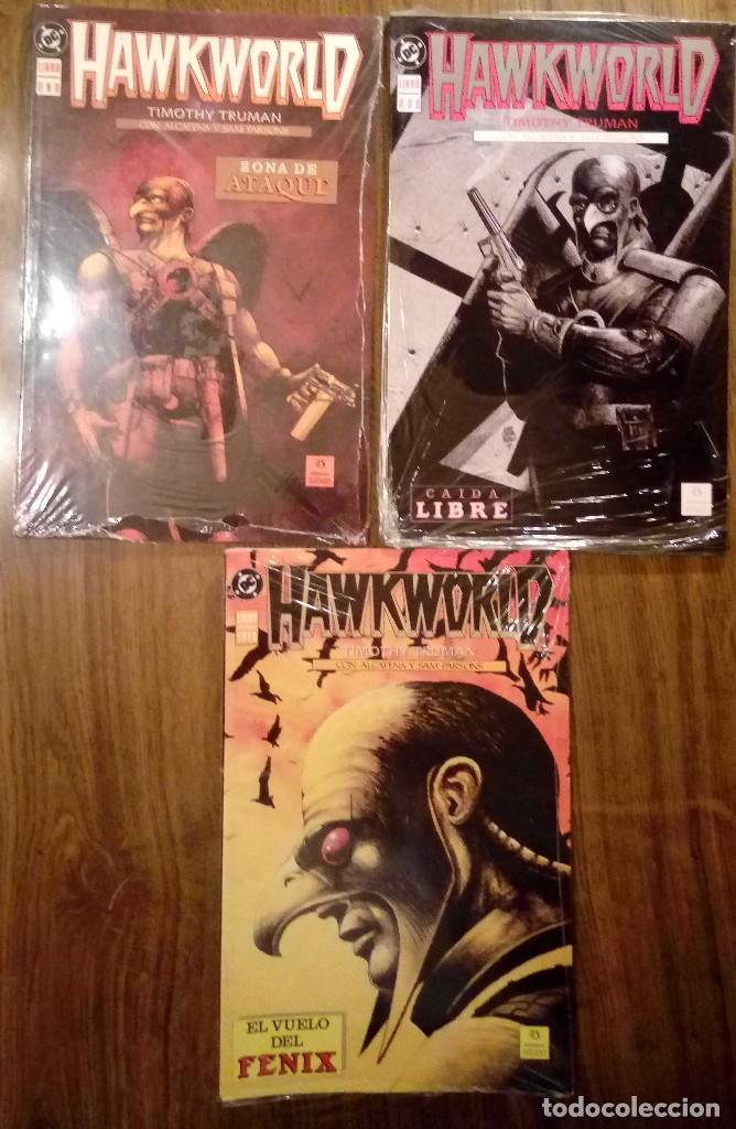 HAWKWORLD. COMPLETA (TOMOS DEL 1 AL 3). EDICIONES ZINCO. SIN DESPRECINTAR. TIMOTHY TRUMAN. (Tebeos y Comics - Zinco - Prestiges y Tomos)