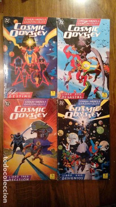 COSMIC ODYSSEY. COMPLETA (TOMOS DEL 1 AL 4). EDICIONES ZINCO. SIN DESPRECINTAR. STARLIN Y MIGNOLA (Tebeos y Comics - Zinco - Prestiges y Tomos)
