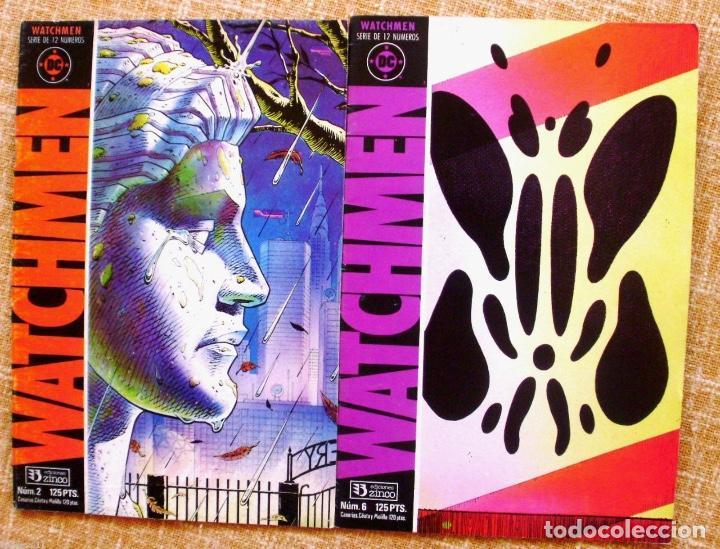 LOTE DE 2 COMICS DE WATCHMEN, 1987, NÚMEROS 2 Y 6 (Tebeos y Comics - Zinco - Otros)