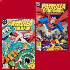Cómics: LA PATRULLA CONDENADA, DC, LOTE 2 COMIC; Nº 10 Y 13 - EDICIONES ZINCO. AÑO 1988, 150 PTS. ORIGINALES. Lote 107937911