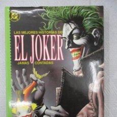 Cómics: LAS MEJORES HISTORIAS JAMAS CONTADAS DE EL JOKER - EDICIONES ZINCO - TOMO PRESTIGE DC COMICS. Lote 110185879