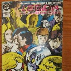 Cómics: LEGION DE SUPERHEROES DEL 9 AL 13. Lote 111190323