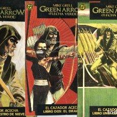 Cómics: GREEN ARROW: EL CAZADOR ACECHA, DE MIKE GRELL (ZINCO, 1988) COMPLETA: 3 TOMOS. Lote 113159283