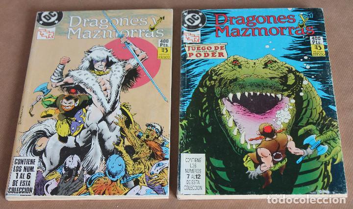 DRAGONES Y MAZMORRAS 1 2 3 4 5 6 7 8 9 10 11 12 ( 2 RETAPADOS ) - COMPLETA, ZINCO, 1990. (Tebeos y Comics - Zinco - Retapados)