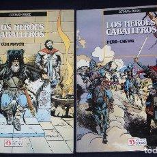 Cómics: LOS HEROES CABALLEROS ( DE COTHIAS Y ROUGE): TOMO 1: PERD-CHEVAL + TOMO 2: LA OSA MAYOR.(COMPLETA). Lote 115473119