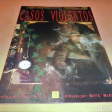 Cómics: CASOS VIOLENTOS - NEIL GAIMAN - DAVE MCKEAN - ZINCO. MUY BUEN ESTADO.. Lote 115499411