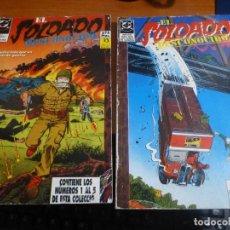Cómics: EL SOLDADO DESCONOCIDO, COMPLETA EN 2 TOMOS RETAPADOS + ANIMAL MAN DEL 1 AL 5 TAMBIEN RETAPADO. Lote 116340667