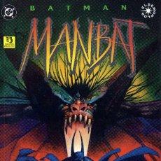 Cómics: MANBAT JAMIE DELANO Y JOHN BOLTO(PREMIO HAXTUR) COMPLET 3NºS PRESTIGIO. Lote 116353703