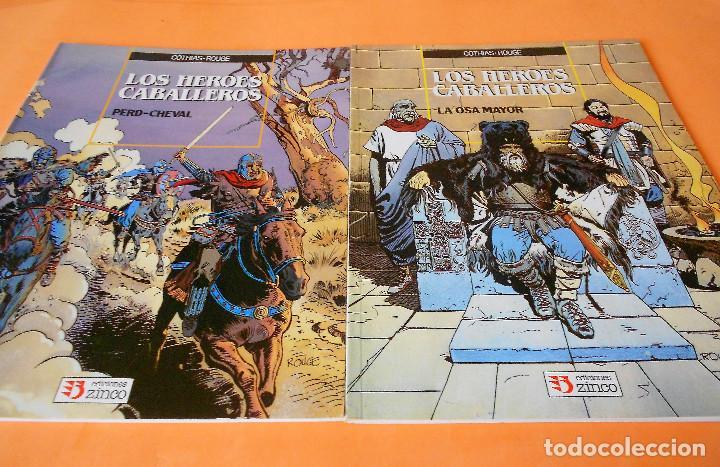 LOS HEROES CABALLEROS - COTHIAS Y ROUGE - COMPLETA 2 TOMOS - ZINCO - TAPA BLANDA . BUEN ESTADO. (Tebeos y Comics - Zinco - Prestiges y Tomos)