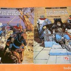 Cómics: LOS HEROES CABALLEROS - COTHIAS Y ROUGE - COMPLETA 2 TOMOS - ZINCO - TAPA BLANDA . BUEN ESTADO.. Lote 116436055