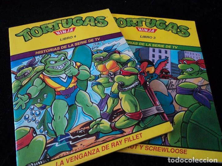 TORTUGAS NINJA, LIBRO 3 Y 4 HISTORIAS DE TELEVISION. WINGNUT Y SCREWLOOSE. EDS. ZINCO 1991 (Tebeos y Comics - Zinco - Otros)