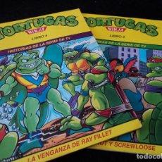 Cómics: TORTUGAS NINJA, LIBRO 3 Y 4 HISTORIAS DE TELEVISION. WINGNUT Y SCREWLOOSE. EDS. ZINCO 1991. Lote 116788043