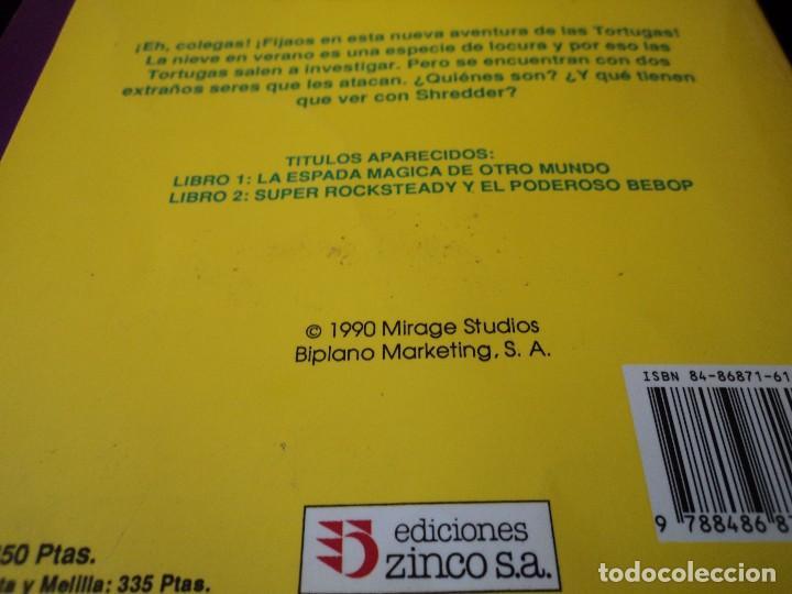 Cómics: TORTUGAS NINJA, LIBRO 3 y 4 HISTORIAS DE TELEVISION. WINGNUT Y SCREWLOOSE. EDS. ZINCO 1991 - Foto 6 - 116788043