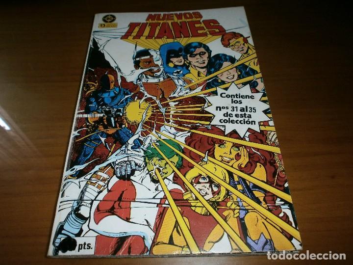 NUEVOS TITANES VOL. 1. RETAPADO Nº 31,32,33,34,35 - MARV WOLFMAN Y GEORGE PÉREZ - DC / ZINCO, 1984. (Tebeos y Comics - Zinco - Nuevos Titanes)