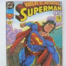 Cómics: VUELVE EL AUTÉNTICO SUPERMAN. Nº 5 AL 8. Lote 121277331