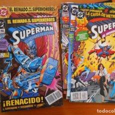 Cómics: SUPERMAN EL HOMBRE DE ACERO - COMPLETA - NUMEROS 1 A 14 - ZINCO - DC (BN). Lote 122008899