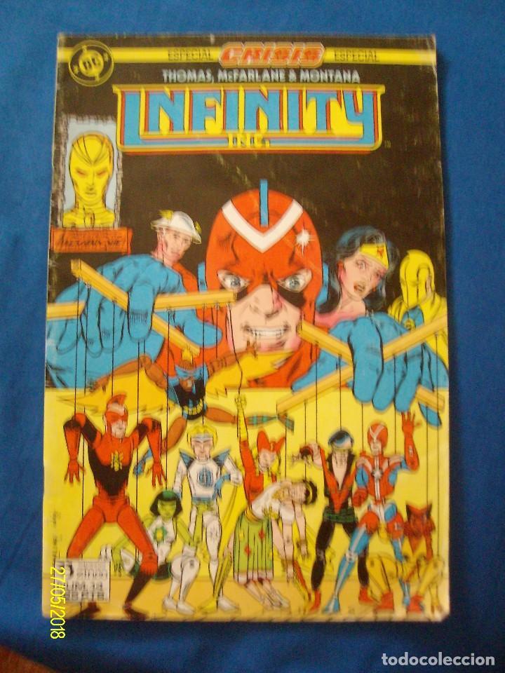 INFINITY INC Nº 14 PRESENTANDO A MEKANIQUE ROY THOMAS TODD MCFARLANE ESPECIAL CRISIS EDICIONES ZINCO (Tebeos y Comics - Zinco - Infinity Inc)